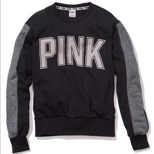 VS Pink Outfit Bling glitter college crew+leggings